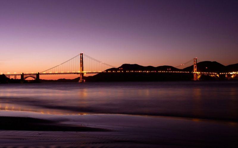water bridges skies wallpaper