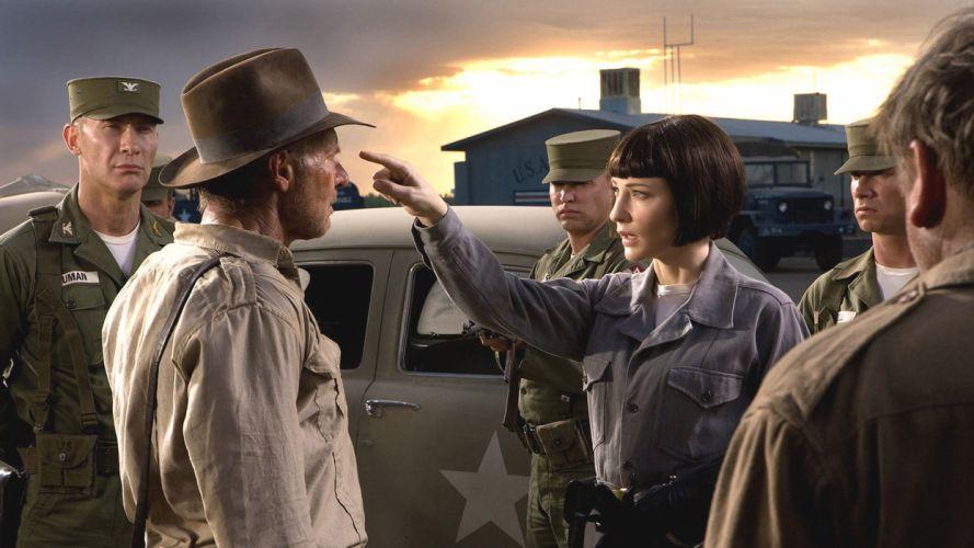 Indiana Jones Cate Blanchett Indiana Jones and the Kingdom of the Crystal Skull Harrison Ford wallpaper