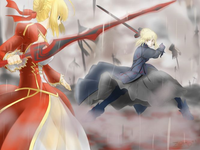 Fate/Stay Night Saber Fate/EXTRA Saber Alter Saber Extra Fate series wallpaper