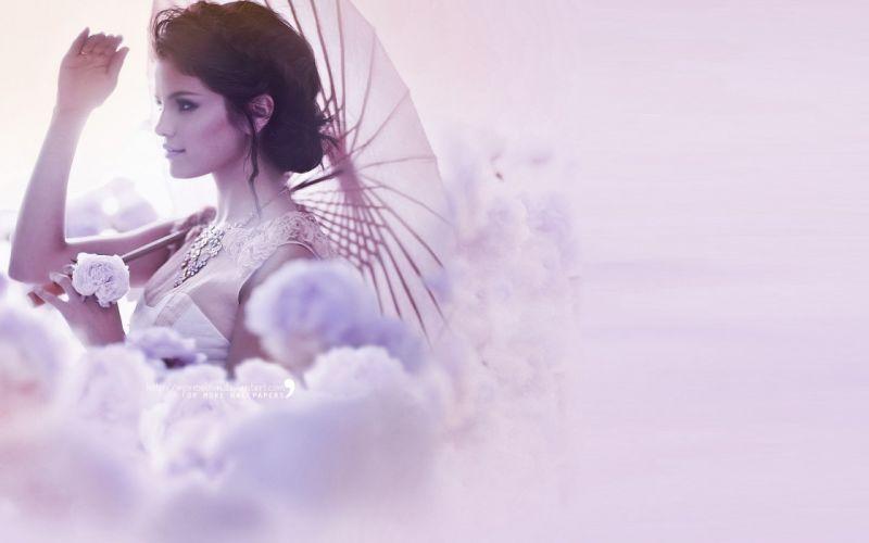 brunettes women Selena Gomez Heaven wallpaper