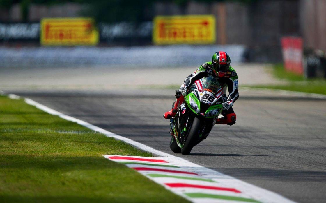 sports Kawasaki motorbikes racing Monza Tom Sykes wallpaper