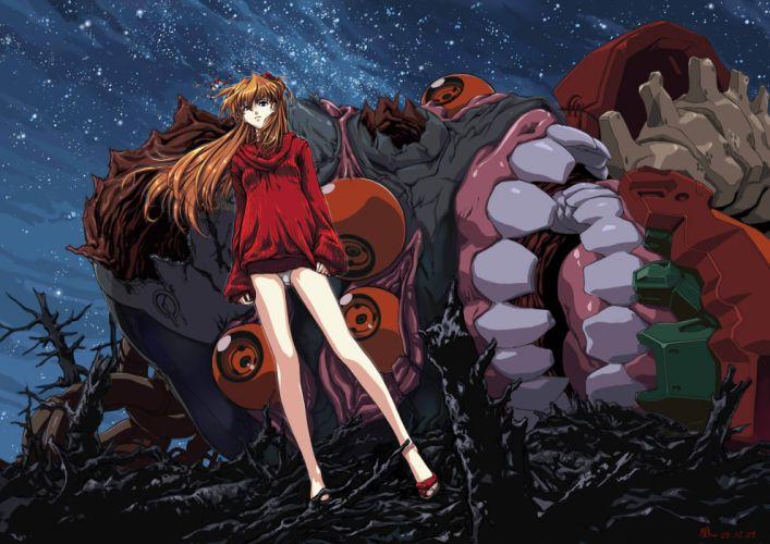 vectors Neon Genesis Evangelion Asuka Langley Soryu EVAs wallpaper