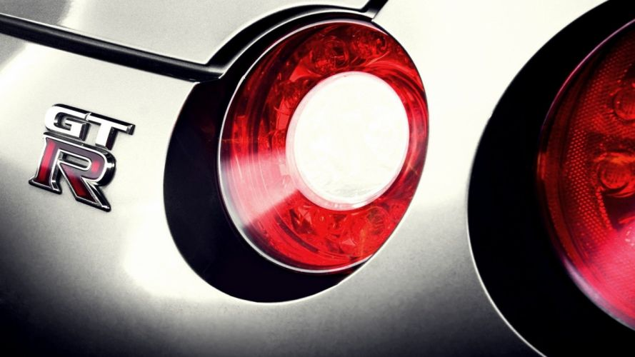 close-up cars Nissan GTR Nissan R35 GT-R taillights Nissan GTR gtr logo wallpaper