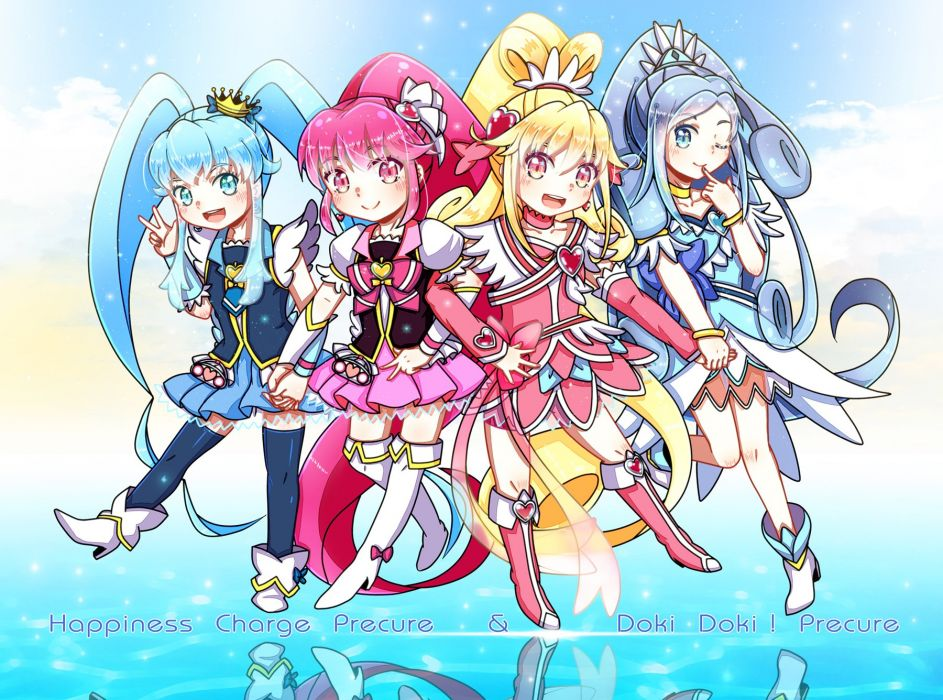 Cross-Over crossover Dokidoki! Precure wallpaper