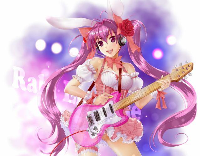 Di Gi Charat usada hikaru Guitar Anime Girls g wallpaper