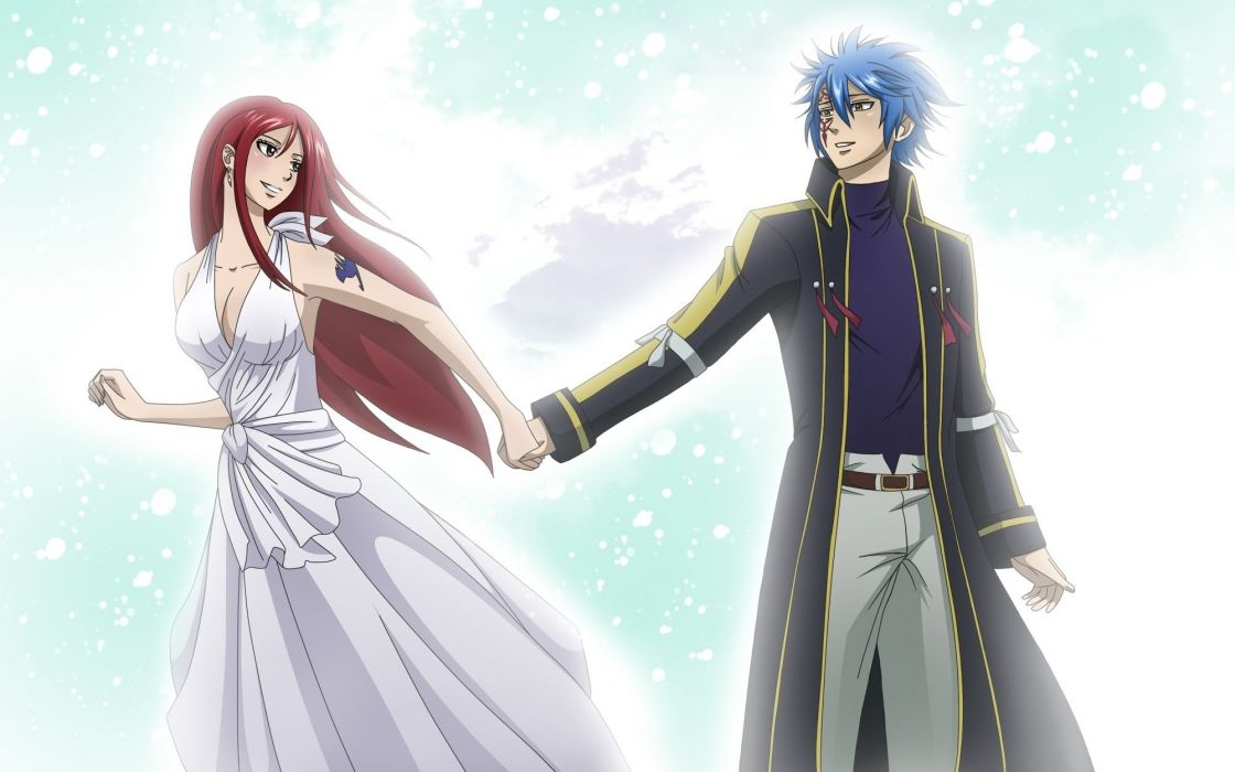 erza scarlet fairy tail jellal fernandes wallpaper