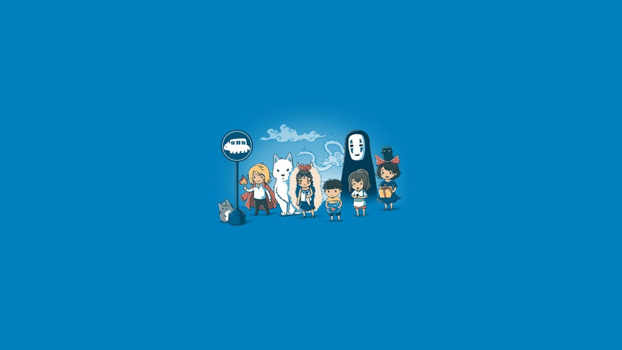 ghibli howls moving castle kikis delivery service mononoke hime spirited away tonari no totoro wallpaper
