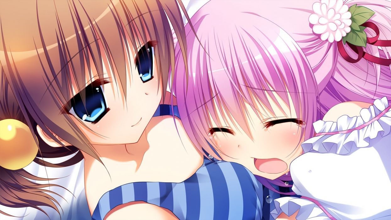 girls crying front wing game cg innocent girl midou konoka midou rino nanaca mai wallpaper