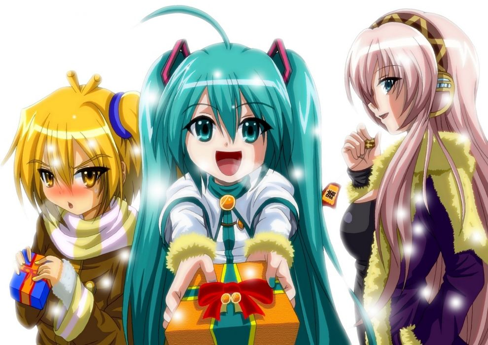Vocaloid Gifts Hair Glance Three 3 Anime Girls christmas    f wallpaper