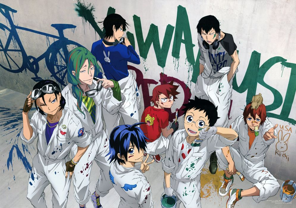 Yowamushi Pedal original graffiti wallpaper