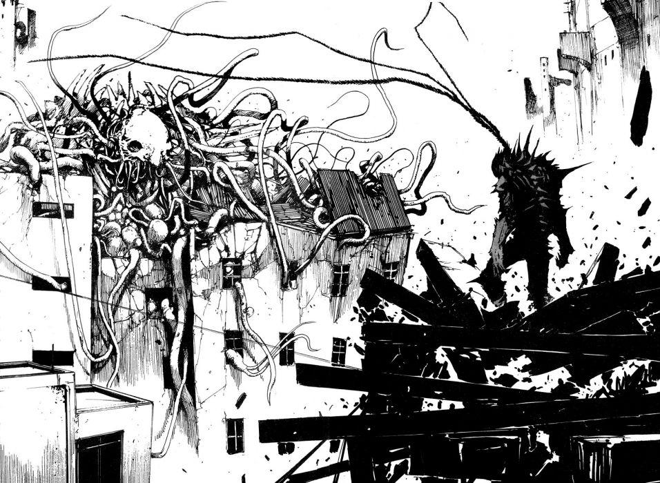 Tsutomu Nihei biomega wallpaper
