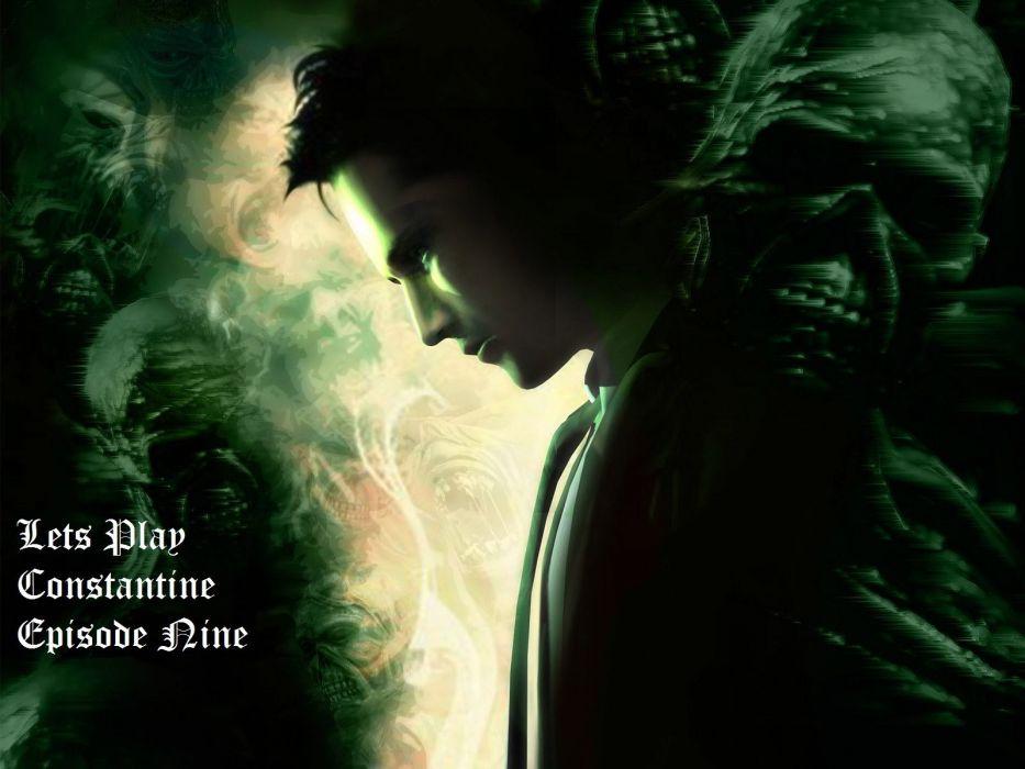 CONSTANTINE horror fantasy occult dark poster wallpaper