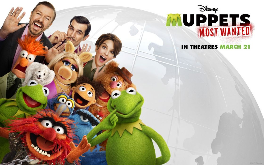 MUPPETS MOST WANTED adventure comedy crime puppet family disney poster wallpaper