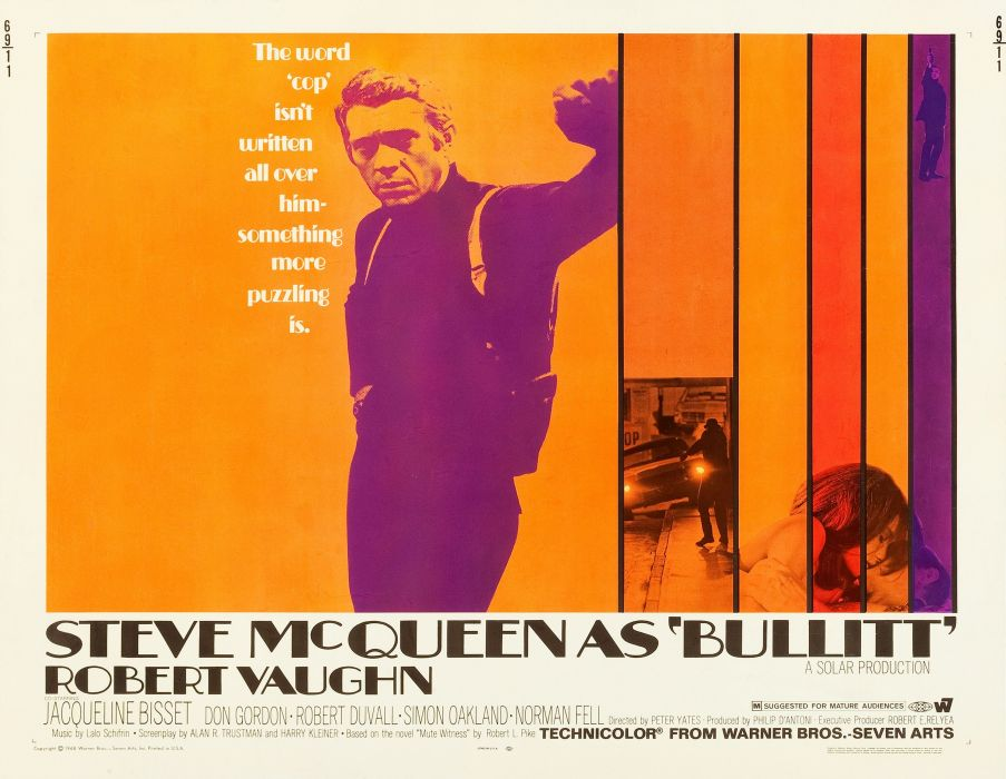 BULLITT action crime mystery movie film poster wallpaper