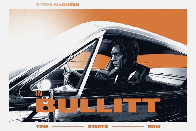 BULLITT action crime mystery movie film poster wallpaper