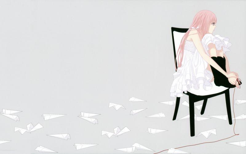Vocaloid Megurine Luka pink hair wallpaper