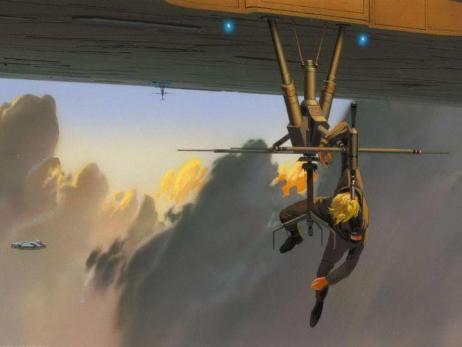 Star Wars Luke Skywalker Millennium Falcon Ralph McQuarrie wallpaper