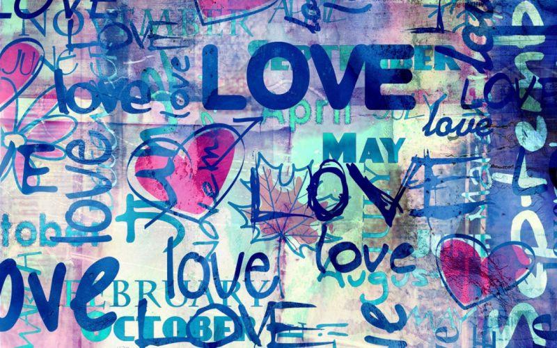 blue love text wallpaper