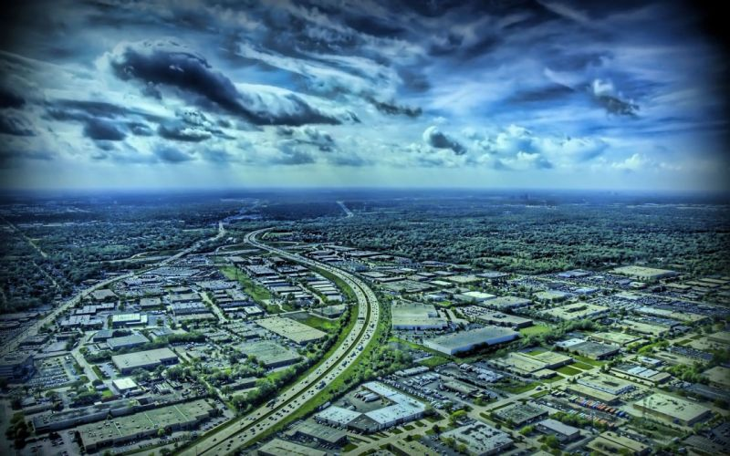 clouds cityscapes HDR photography wallpaper