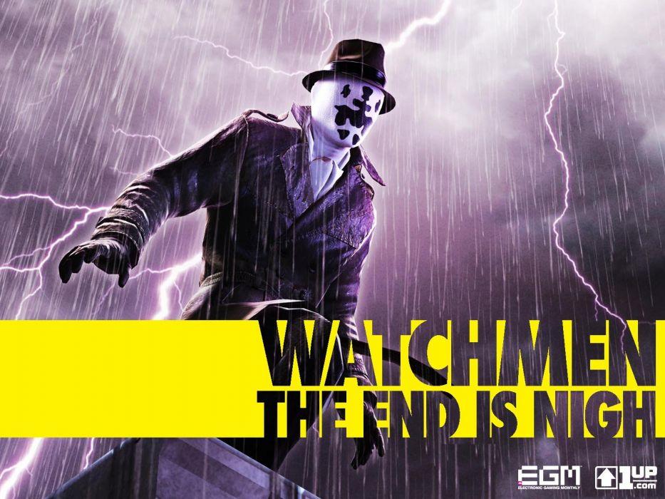 Watchmen yellow Rorschach wallpaper