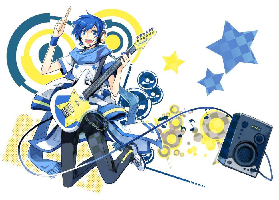 Vocaloid Kaito (Vocaloid) blue hair wallpaper