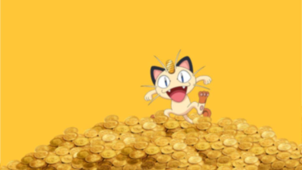 Pokemon coins money Meowth wallpaper