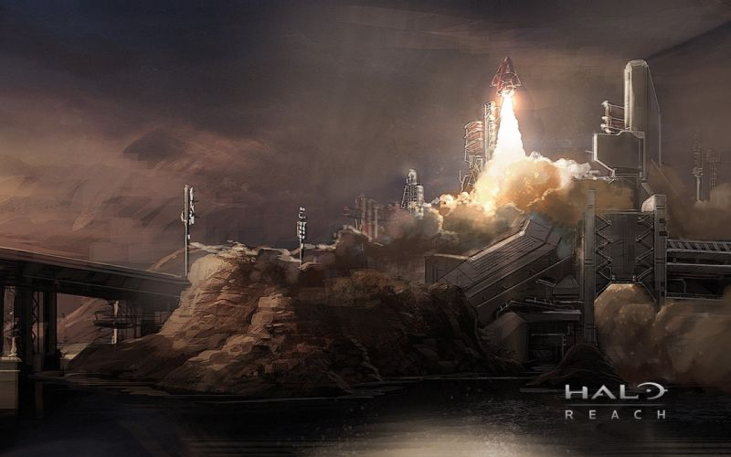 video games Halo video Halo Reach artwork rocket game wallpaper