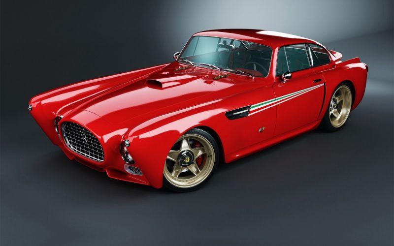 red cars design Ferrari Classic Italian concept cars rims sports cars wallpaper