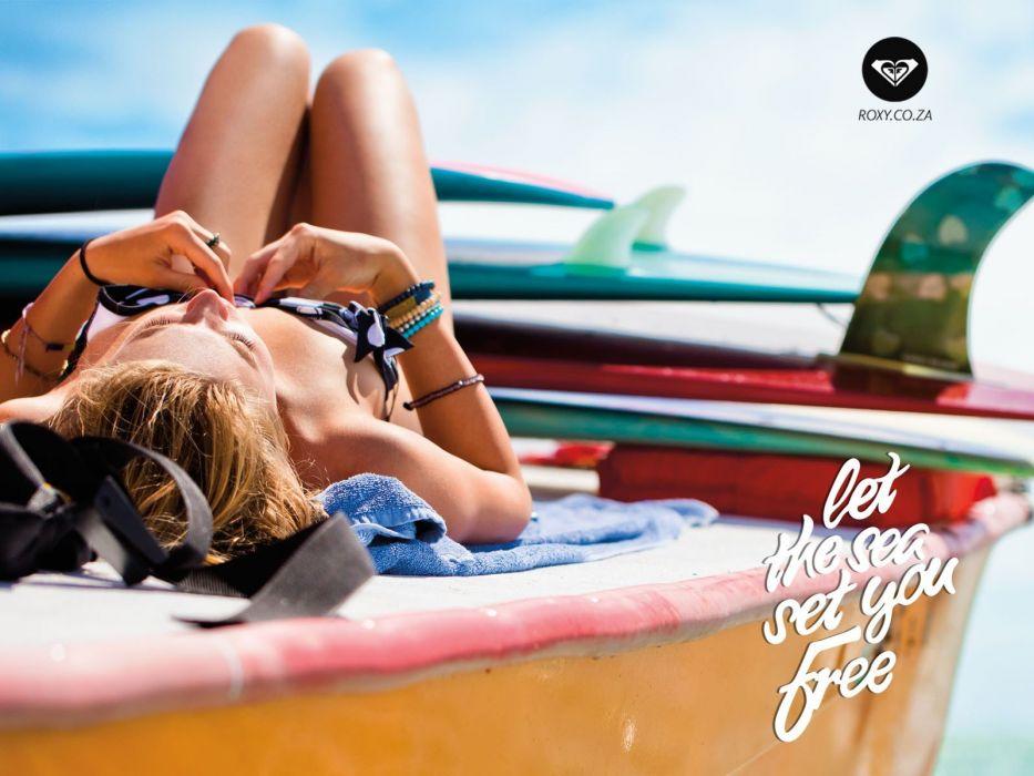 women swimsuits beach girls Roxy Swimwear beaches wallpaper