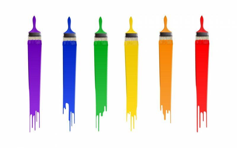 multicolor design paint paint brushes wallpaper