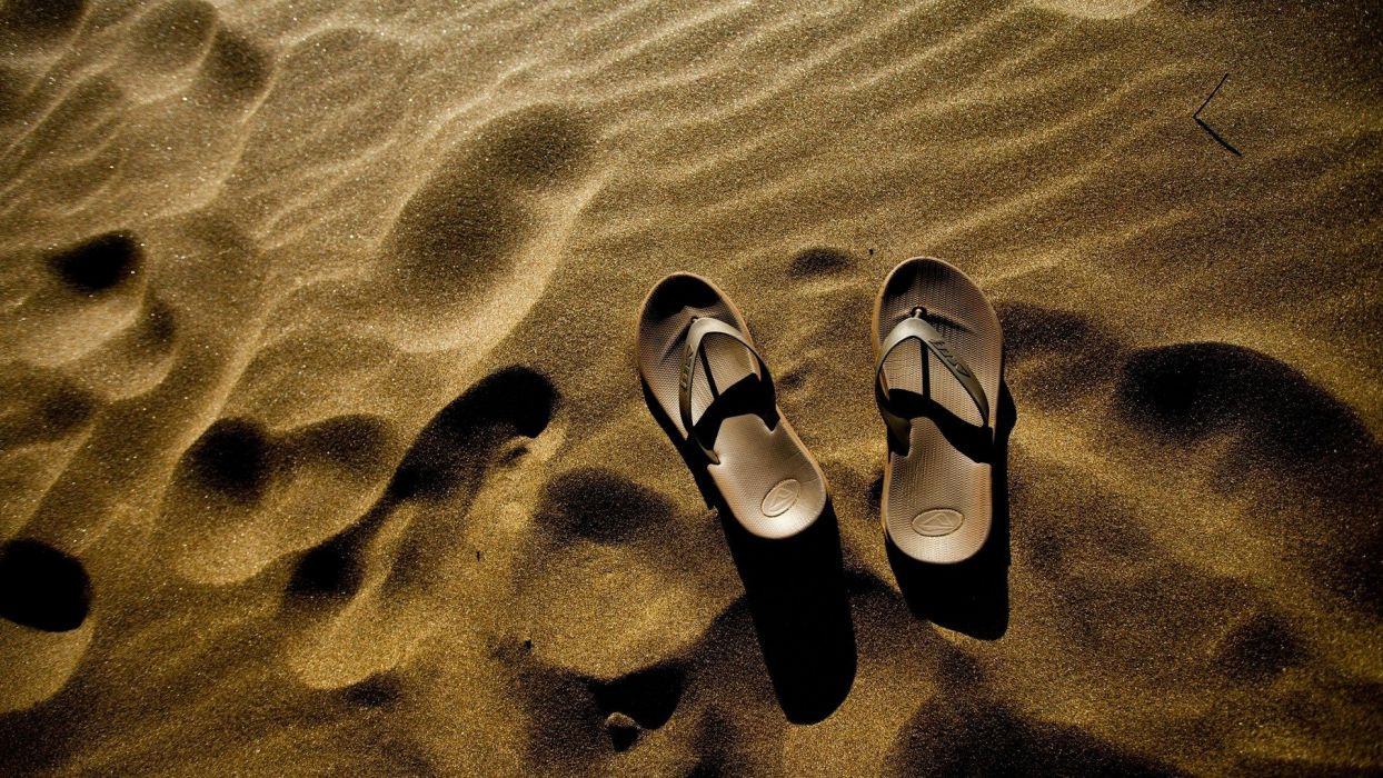nature sand sandals slippers wallpaper