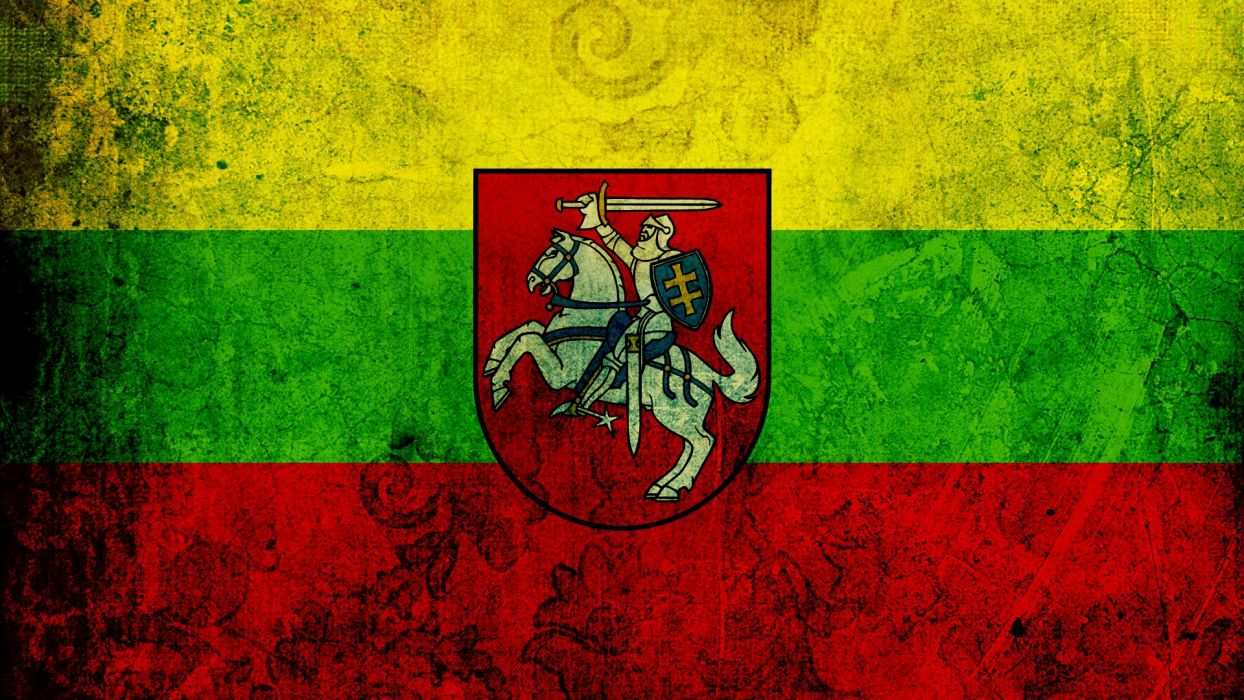 flags Lithuania Coat of arms wallpaper