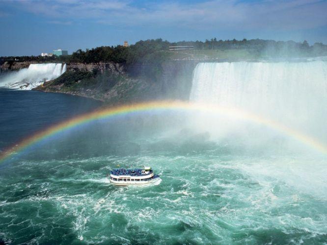 fantasy nature rainbows Niagara Falls wallpaper