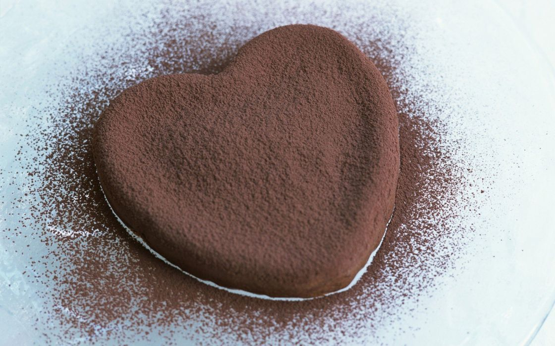 love chocolate cookies hearts wallpaper