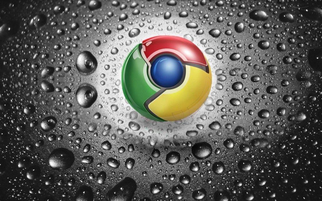 chrome water drops logos Google Chrome wallpaper
