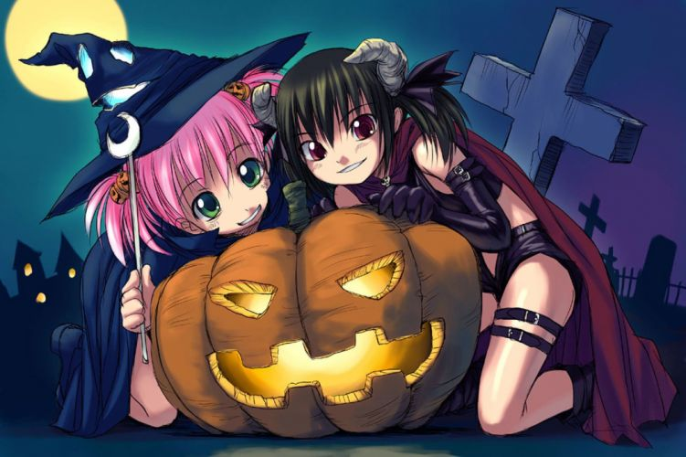 Halloween Askray pumpkins wallpaper