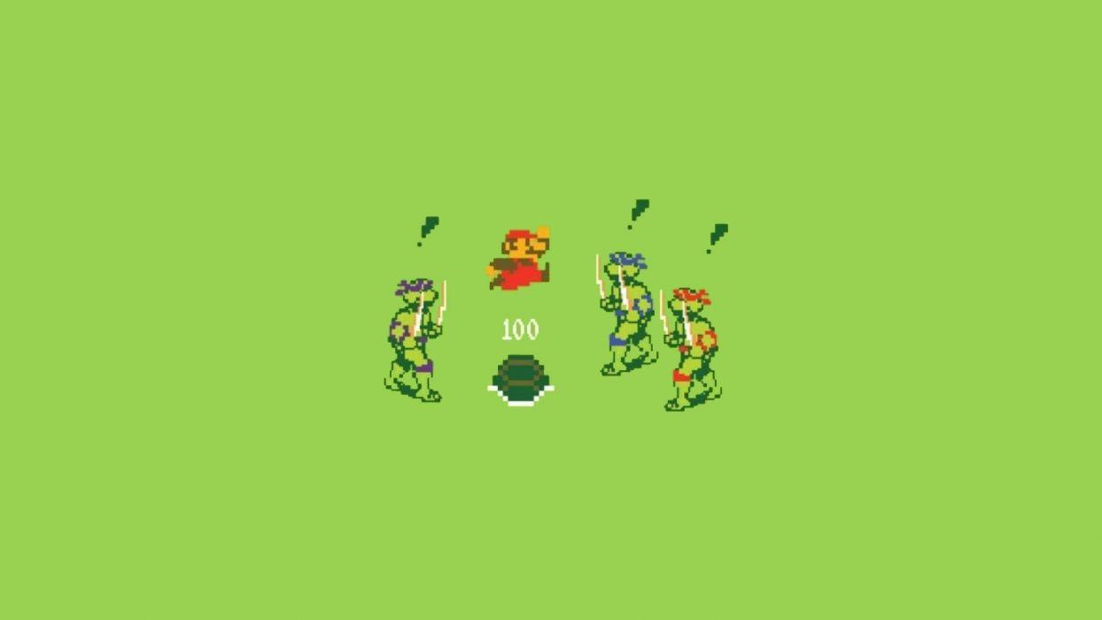 Mario Teenage Mutant Ninja Turtles wallpaper