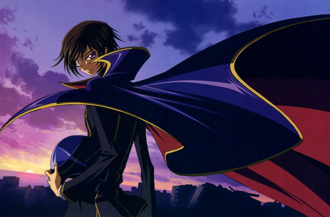 Code Geass artwork Lamperouge Lelouch anime wallpaper