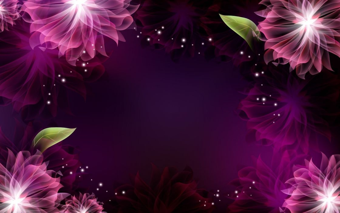 abstract multicolor flowers wallpaper