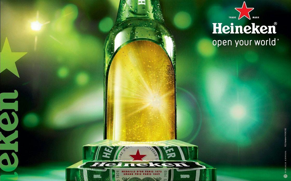 beers alcohol Heineken posters publicity beer cans wallpaper