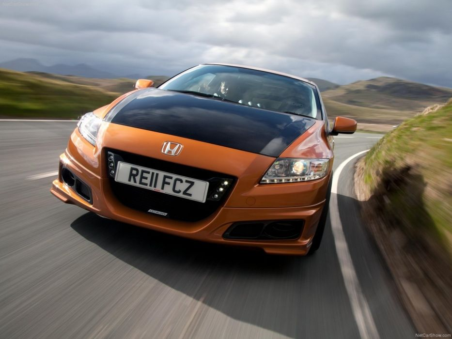 cars Mugen concept art Honda CR-Z Mugen front view orange cars wallpaper