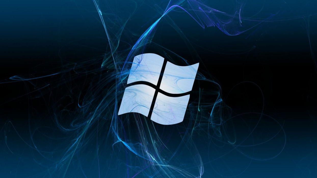 abstract blue textures Microsoft Windows logos wallpaper