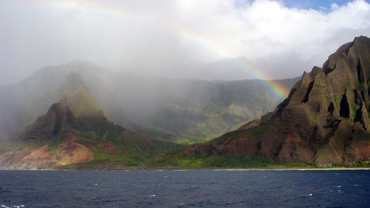 landscapes nature rainbows wallpaper