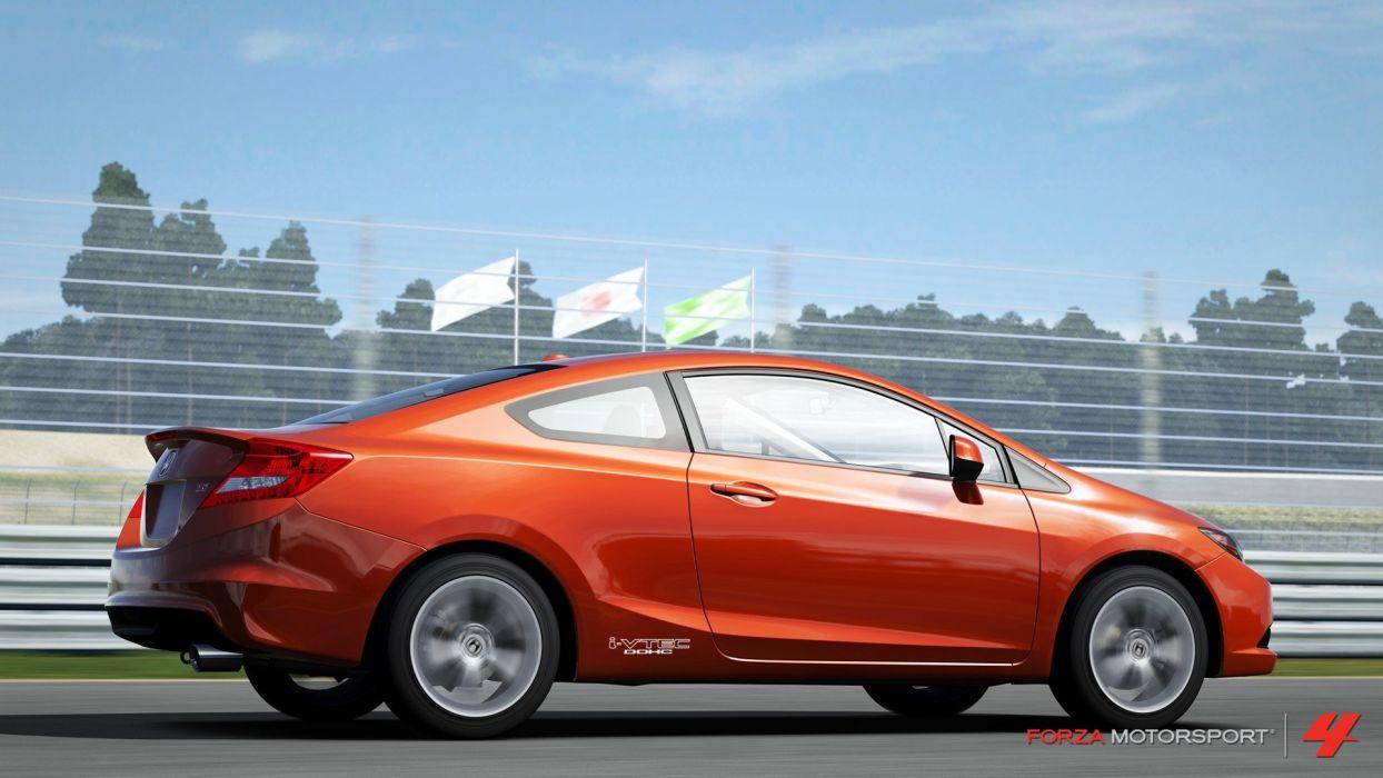 video games cars Xbox 360 Honda Civic Si Forza Motorsport 4 wallpaper