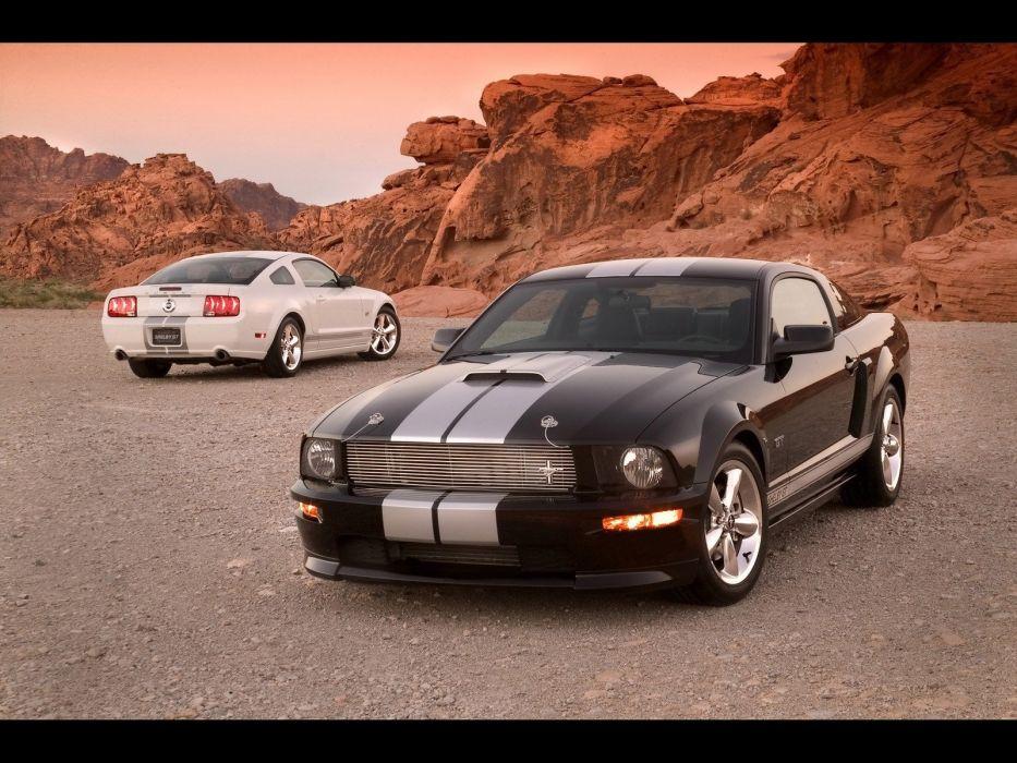 rocks muscle cars dusk Ford Shelby wallpaper