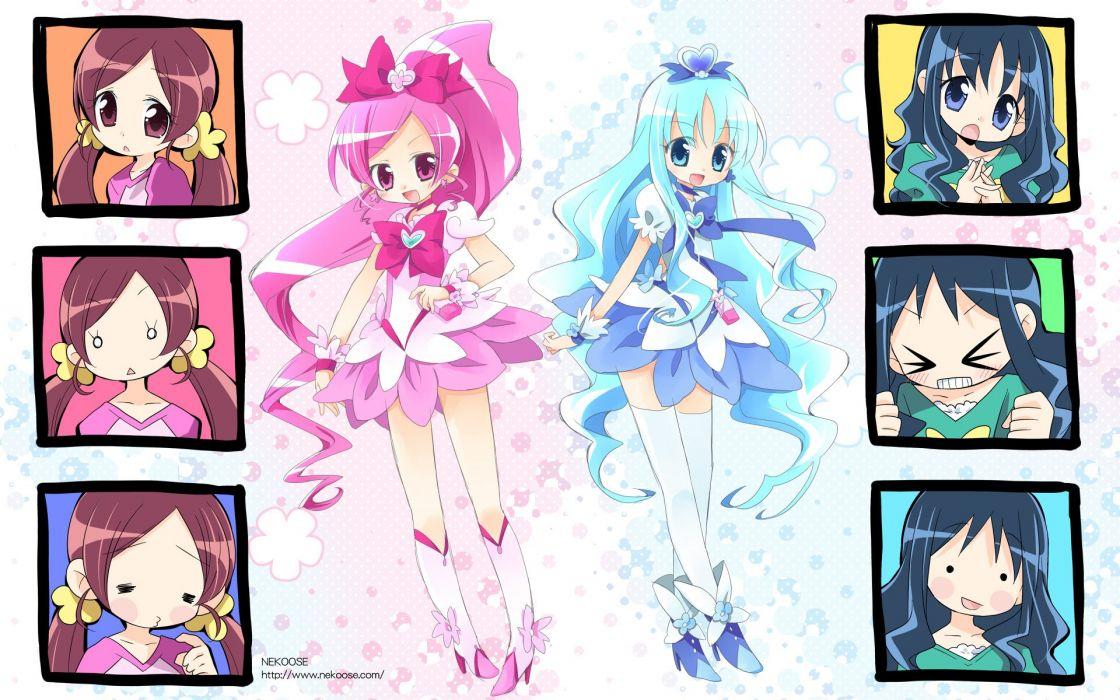 Pretty Cure Heartcatch Pretty Cure Precure Cure Marine Cure Blossom wallpaper