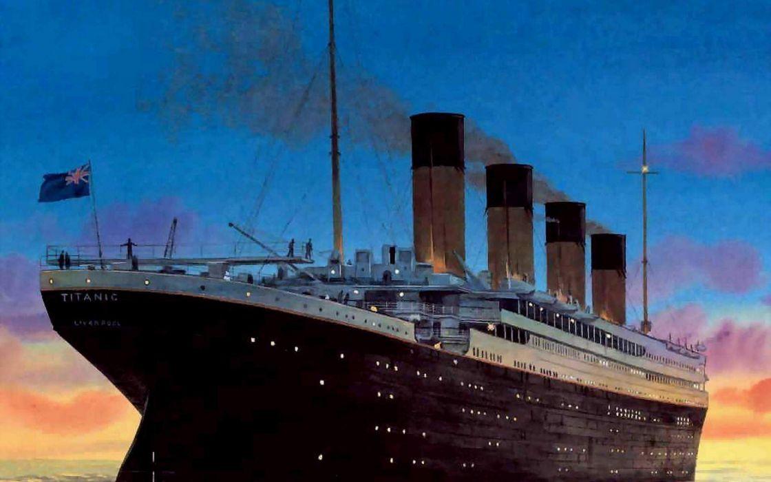 paintings Titanic wallpaper