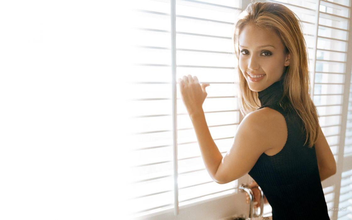 blondes women Jessica Alba actress white background wallpaper