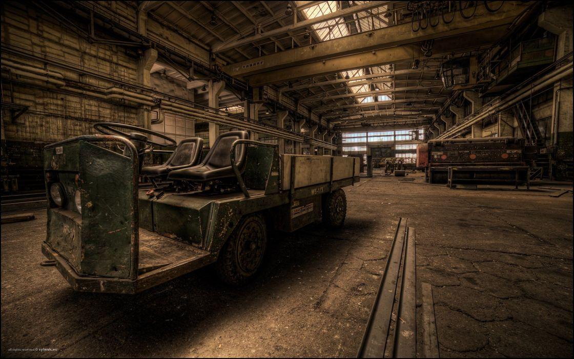 decay industrial plants wallpaper