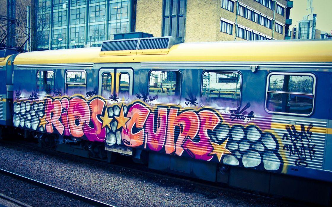 cityscapes graffiti metro wallpaper